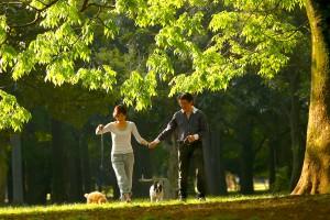ロバートさんと奥様、そして2頭の愛犬