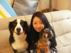 竹入さんの奥様とヴィッキー、マイロ